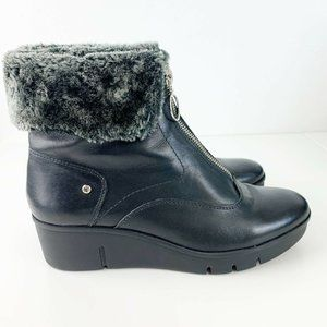 PIKOLINOS Shoes - Pikolinos Balerma Black Wedge Boots Zipper Front